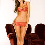 Hope Dworaczyk - Red lingerie