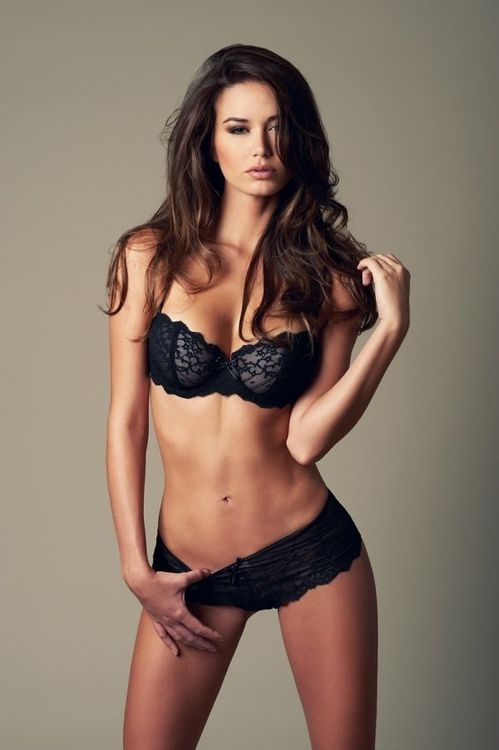 The Best Lingerie Trends : Brittani Paige Sexy In Black