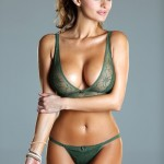 sexy green lingerie