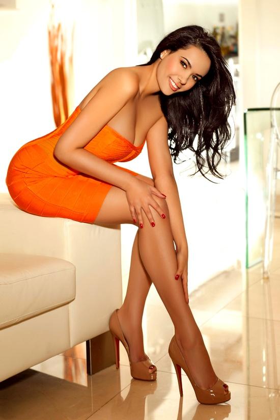 sexy dress orange