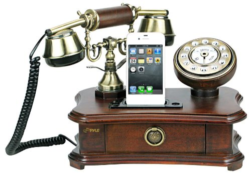 Pyle-PRT35I-Retro-Home-Telephone-for-iPhone-iPod
