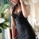 black lingerie stockings - Carla Ossa