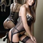 black lingerie stockings babe 2