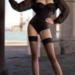 black lingerie stockings long legs