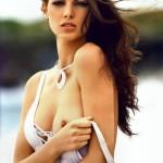 hot brunette nipple slip