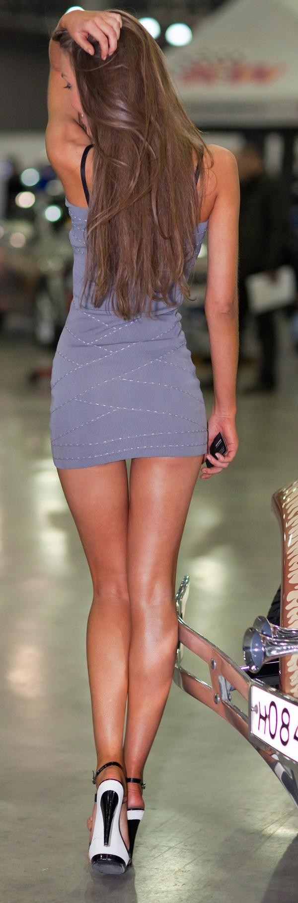 Long legs tight dress