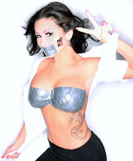 Duct tape tattoo fake boobs jwoww urbasm for Fake tits tattoo