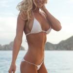 sexy blonde white bikini
