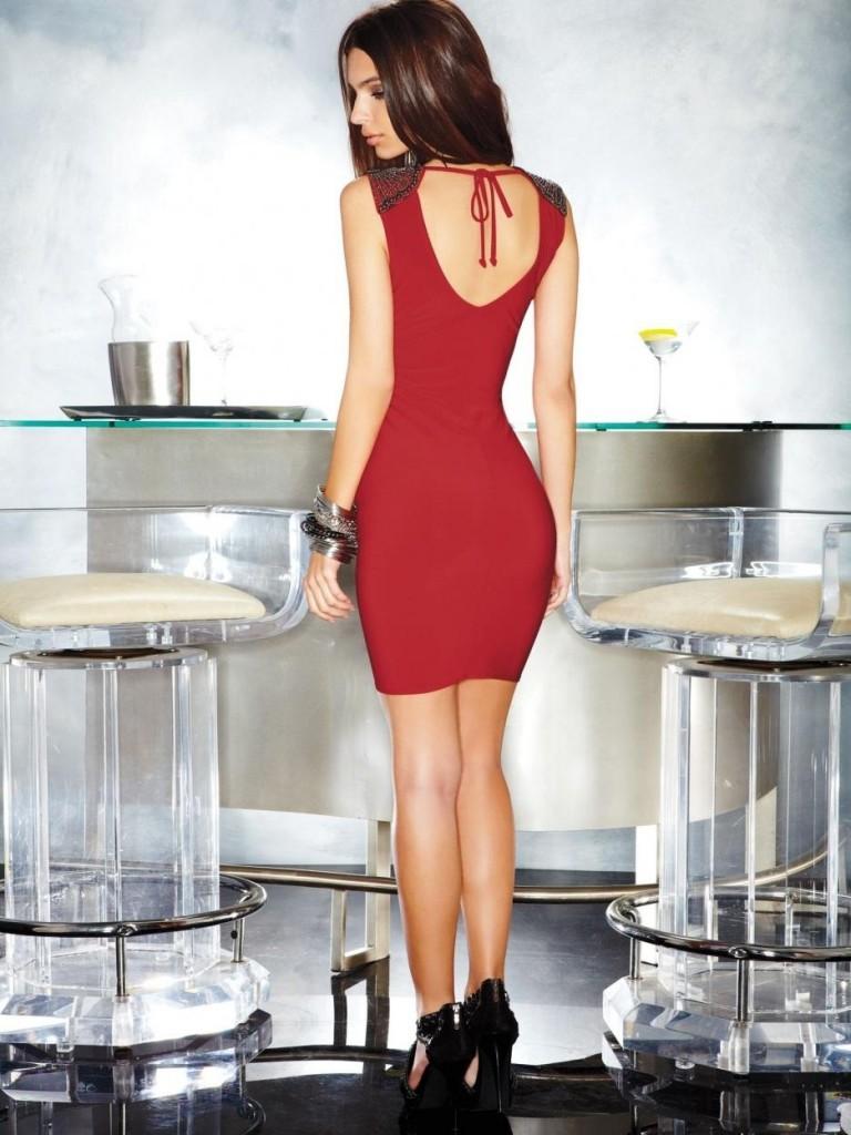 Emily Ratajkowski Red Dress Urbasm