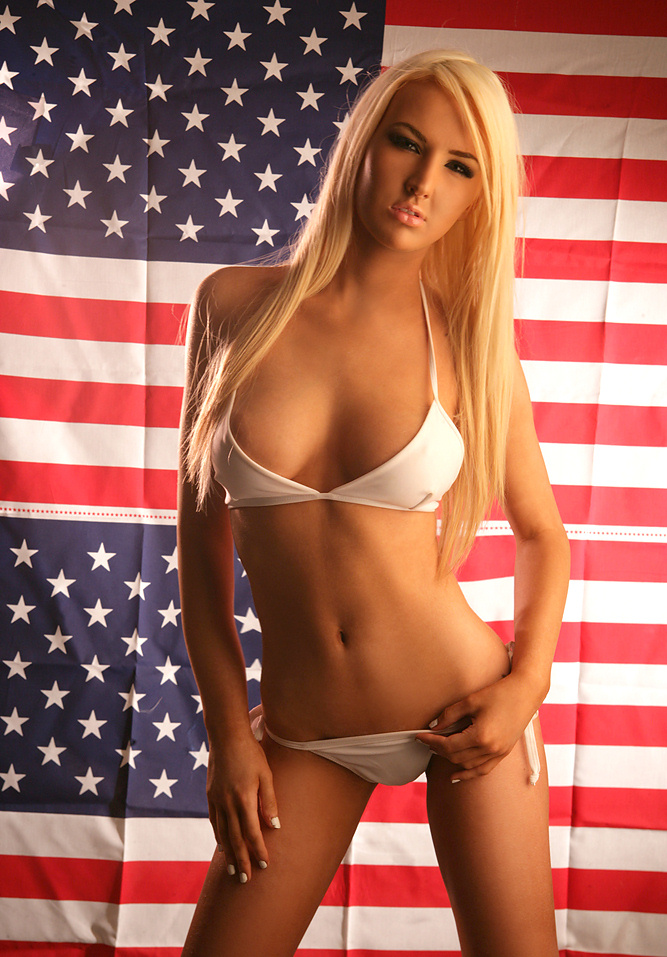 Think, that Sexy patriotic blonde nude