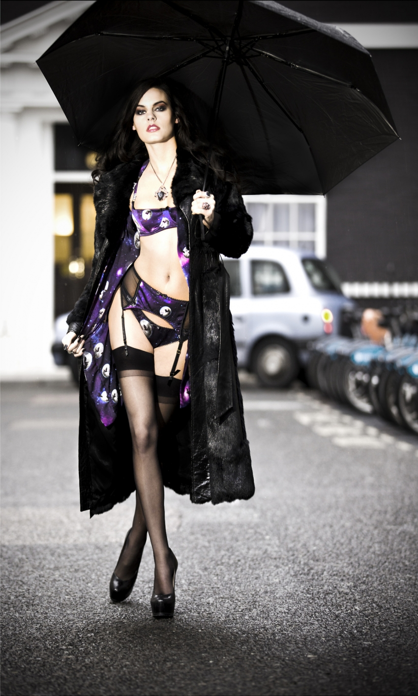 sexy woman lingerie overcoat