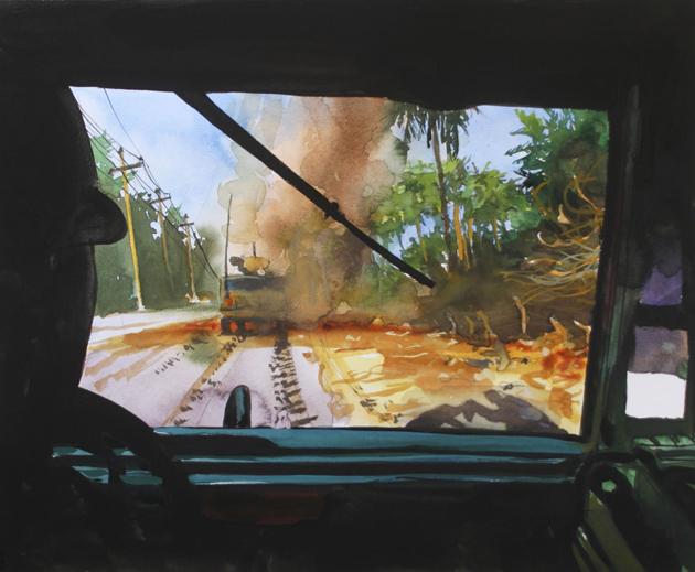 IED-explosion-Bosnian-War