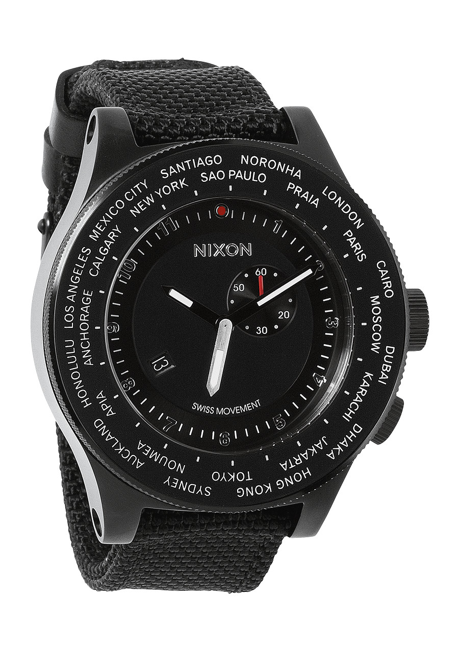nixon black personals Nixon re-run multi-fonction digital watch all black with jewelry style bracelet and  stainless steel locking clasp.