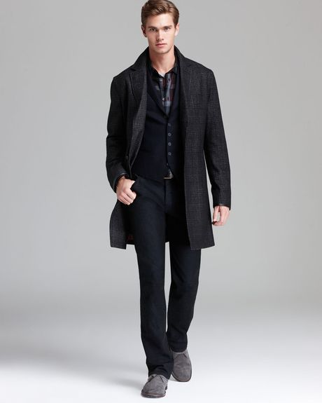 john-varvatos-black-usa-glen-plaid-top-coat