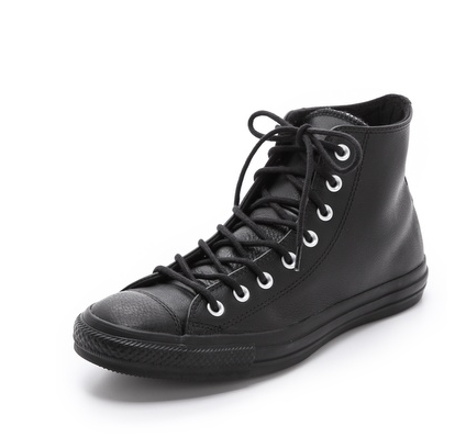 High-Top-Chucks-black-leather-lace-ups