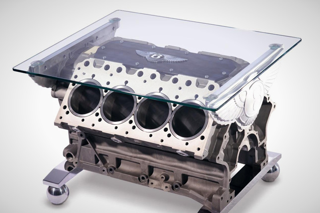 Bentley V8 Engine Coffee Table