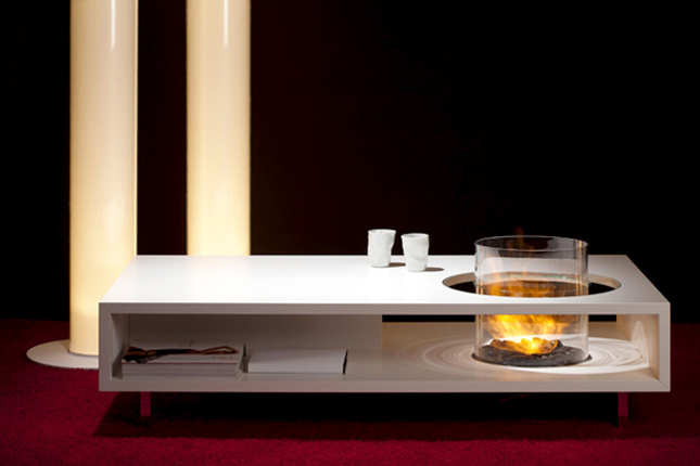 Modern Fire Coffee Table