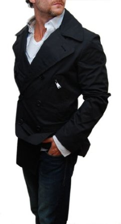 Polo Ralph Lauren Black Label Mens Blue Jean Peacoat