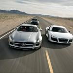 Showdown – SLS AMG vs R8 V10 vs 911 Turbo