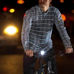 Betabrand Reflective Button-Up Shirt