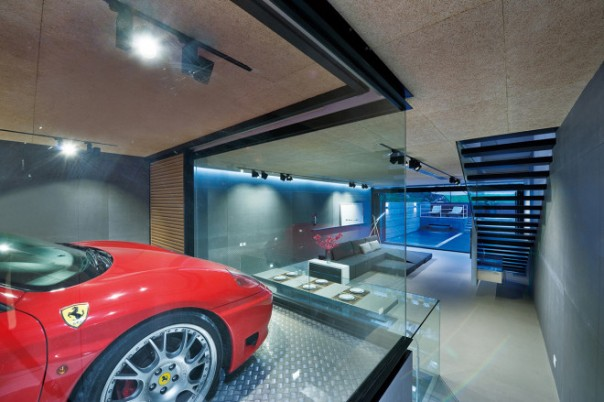 Ferrari Garaged in a Living Room 2