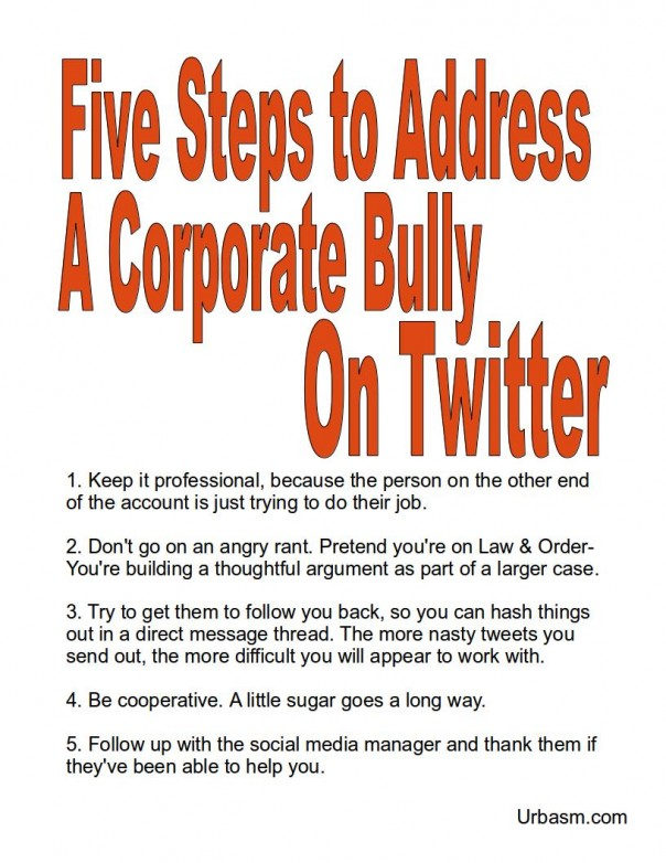Five steps to address corporate bully