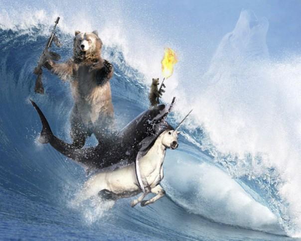 bear-shark-unicornsurfing