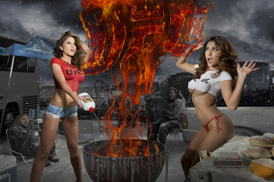 Brittney Palmer and Arianny Celeste body paint