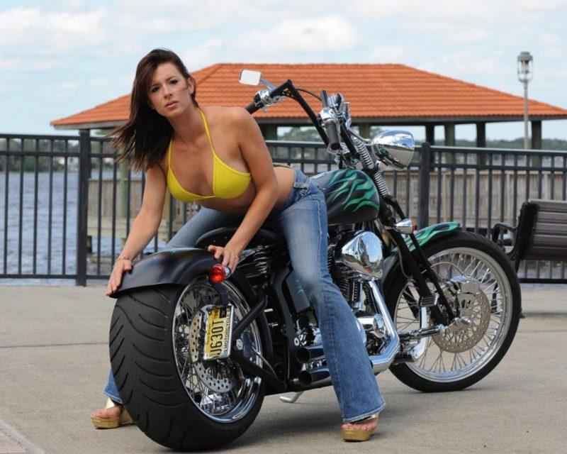 hot model - motorcycle