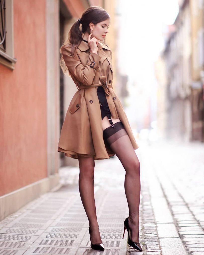 sexy lingerie trenchcoat