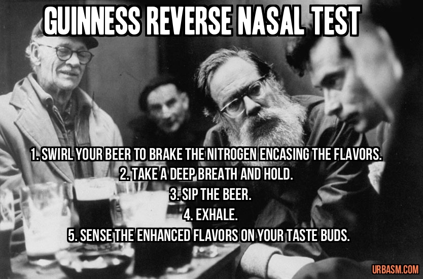 Guiness Reverse Nasal Test