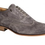 Bacca Bucci Suede Grey Oxfords Complete Anything Blue or Denim