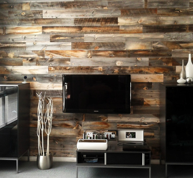 Stikwood wall mural is the urban man 39 s log cabin for Cabin in the woods wall mural