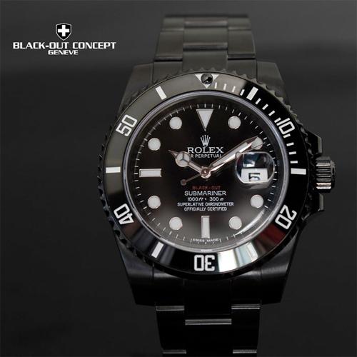 watch - Rolex Submariner - blackout