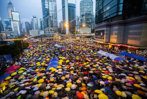 Protestors at Hong Kong Occupy Central October 28, Credit: Mashable