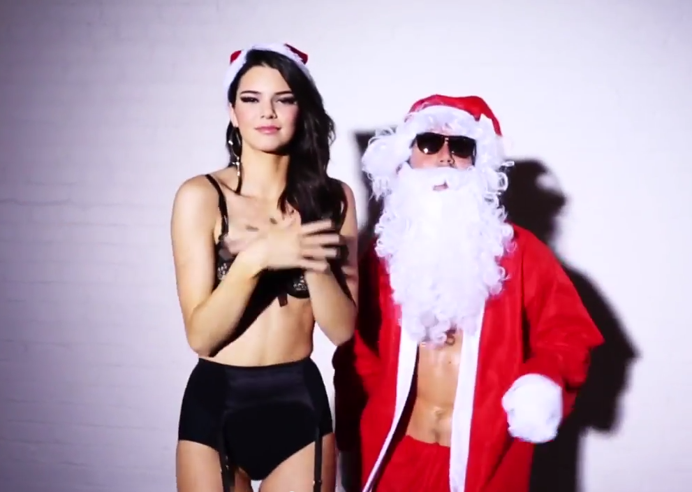 Kendall Jenner Christmas strip show