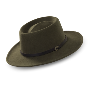 open crown fedora