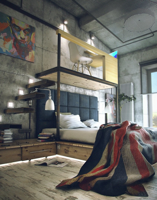 loft-bachelor-pad-bedroom