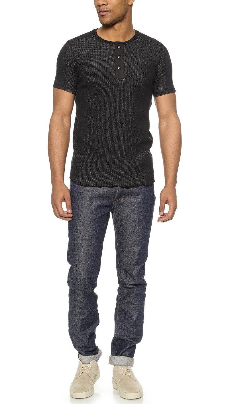 Mesh Henley front cover