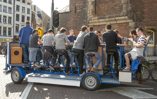 Amsterdam beer bike pub crawl