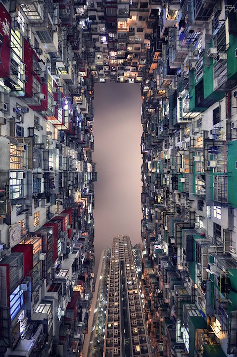 crowded apartments hong kong