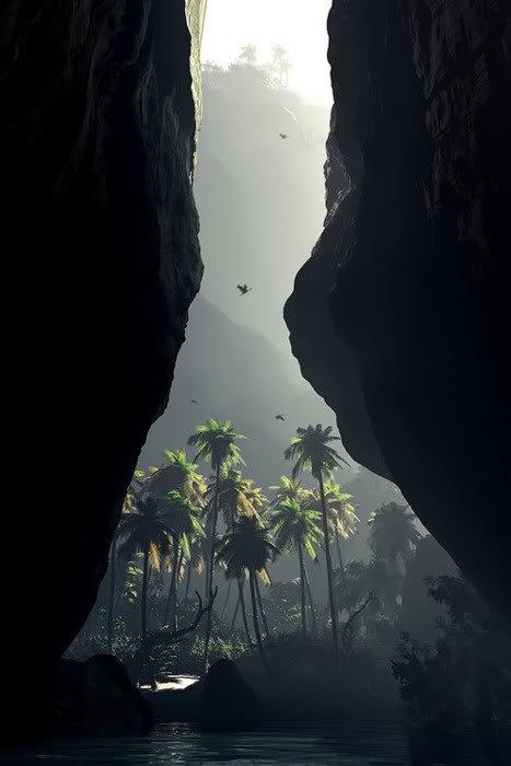 tropical getaway cliffs