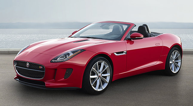 Jaguar F Type coupe 2016 red