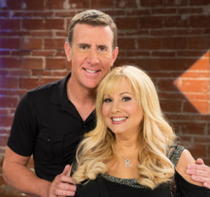 Photo: Anthony Sullivan and the co-founder of SVELTE, Rhonda Shear