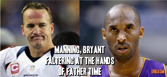 Manning, Bryant Faltering at the Hands of Father Time