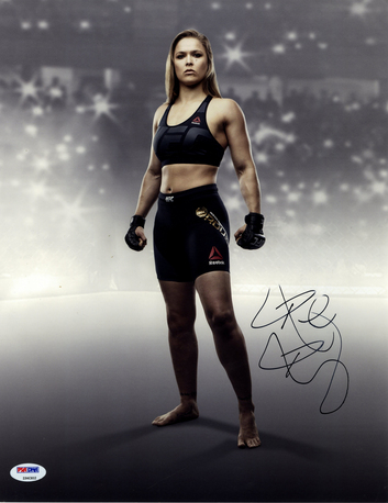 Ronda-Rousey-Autographed-Stance-11X14