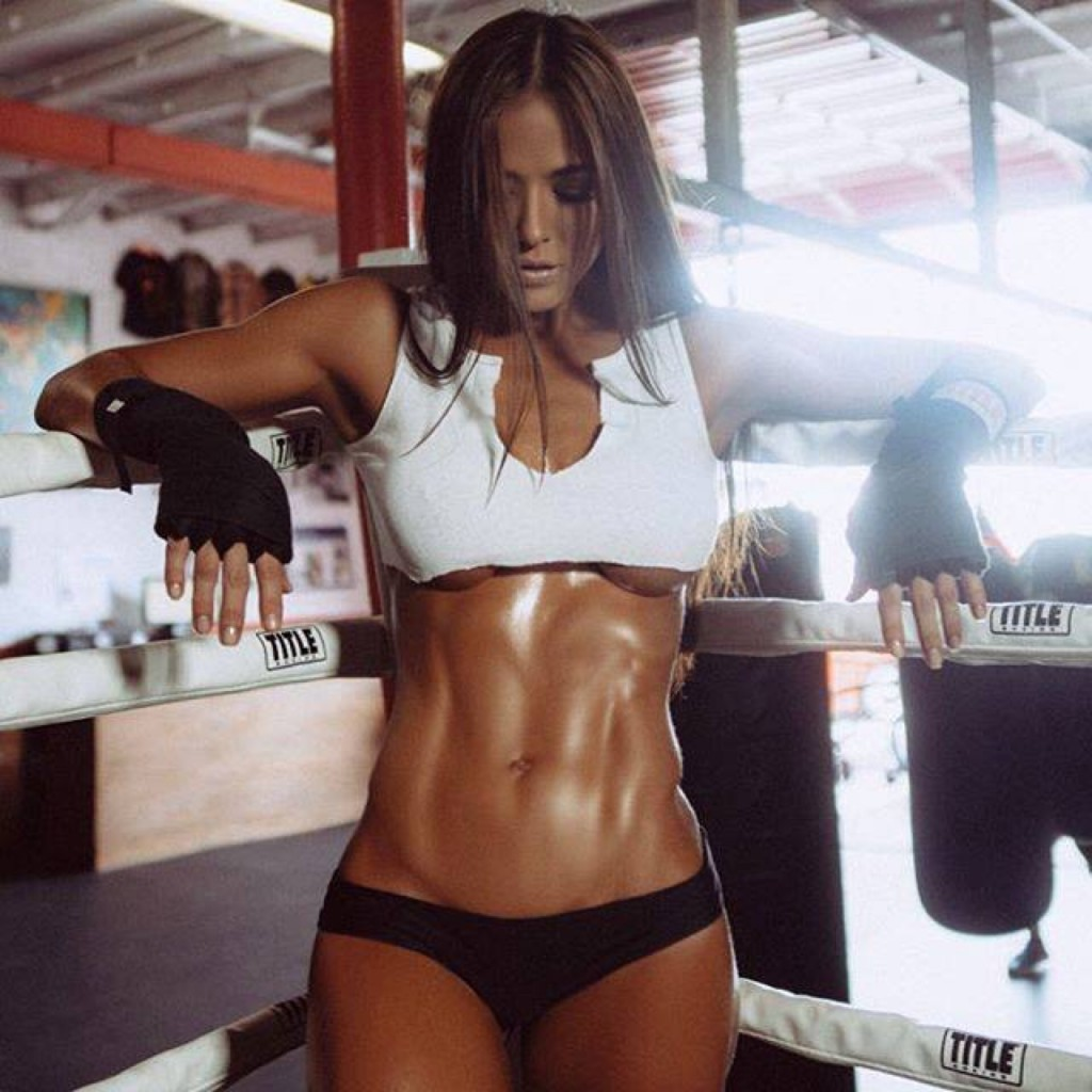 brunette fit and toned
