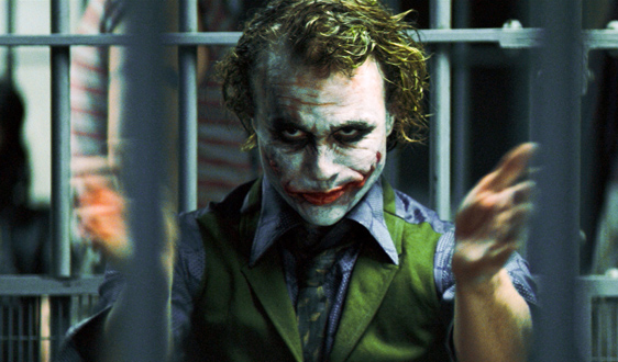 THE DARK KNIGHT, Heath Ledger as The Joker, 2008. ©Warner Bros./Courtesy Everett Collection