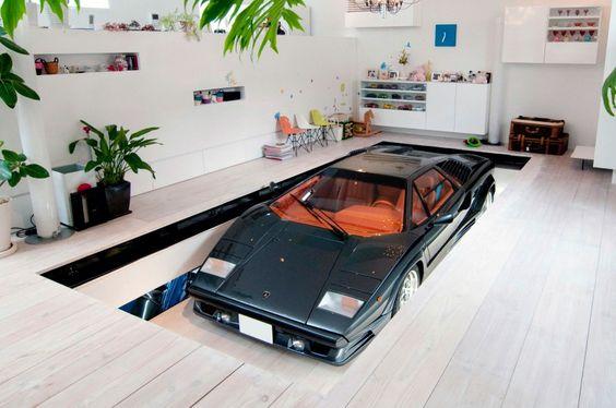 car lift - KRE house in Tokyo
