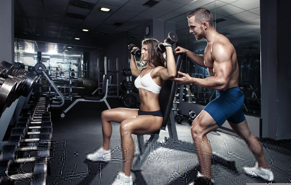 couples working out at gym